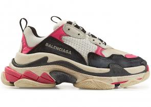 sneakers chaussure de balenciaga mode black pink brown